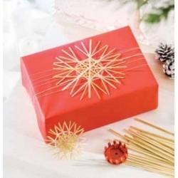 Håndlavet stråsilkepapir - A4 10 ark - rød harmoni