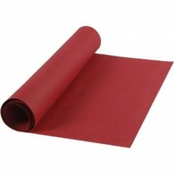 Læderpapir - 50cm x 1m - Rød