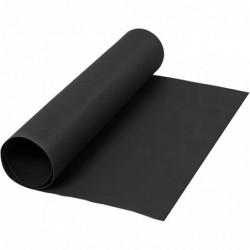 Læderpapir - 50cm x 1m - Sort