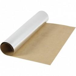 Læderpapir - 50cm x 1m - Sølv