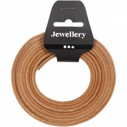 Læderbånd - 10mm x 2m -...