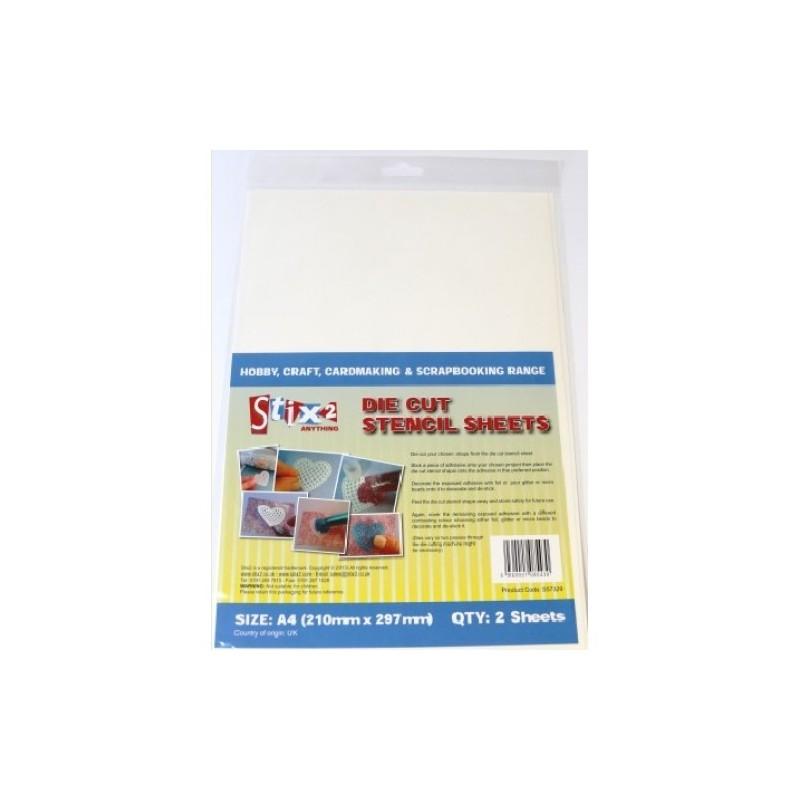 Stix2 A4 die coupe stencil sheets 2 feuilles par paquet
