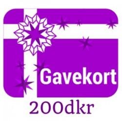 Gavekort - værdi 200dkr