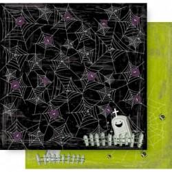 Scrapbook ark 12x12 - Cobwebs