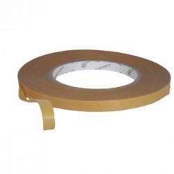 Brun dobbeltsidet tape 9mmx50m