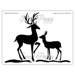 Sweet Poppy stenciler - Deer