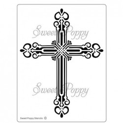 Sweet Poppy stenciler - Cross