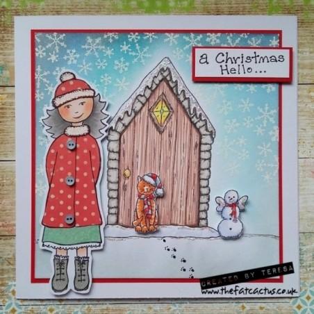Studio Light A4 dobbelsiddet baggrund papir 1 ark - Winter Memories 203