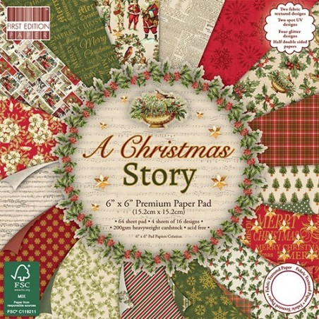 Studio Light 12x12 dobbelsiddet scrapbook papir 1 ark - Scandinavian Christmas 03