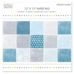 Studio Light 12x12 dobbelsiddet scrapbook papir 1 ark - Scandinavian Winter 04