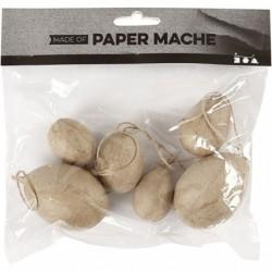 Papforme - Æg - 6stk med snore