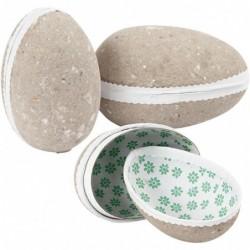 Papforme - 2-delte æg - 3 stk